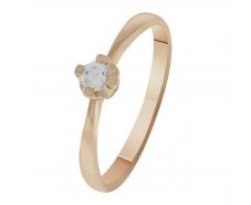 Золотое кольцо с фианитом (1101477101)