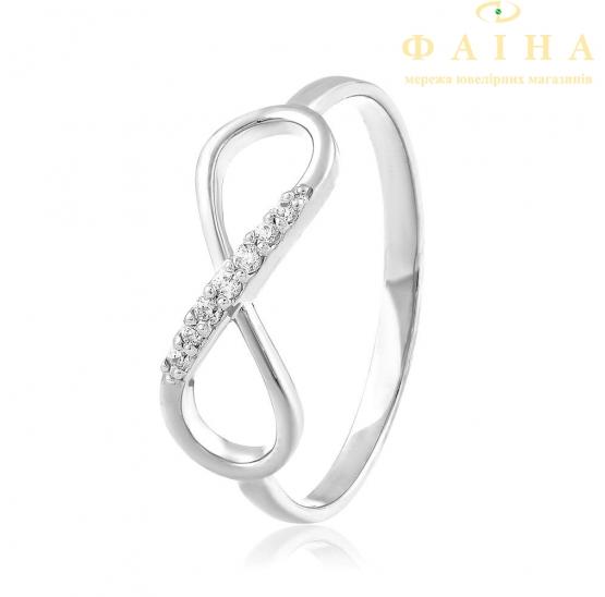 Золотое кольцо с фианитом (2058/1) - 1