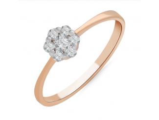 Золотое кольцо с бриллиантом и сапфиром (101-10015)