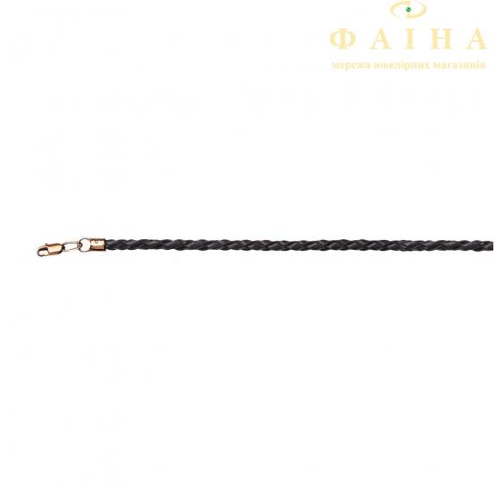 Шнурок с золотым замком (Ш006) - 1