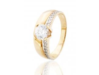 Золотое кольцо с фианитом (11)