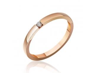 Золотое обручальное кольцо с бриллиантом (КОА7104)