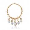 Золотое кольцо с фианитом (4158Sw) - 1