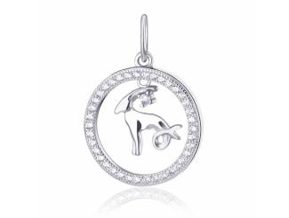 Серебряный кулон-знак зодиака (П2Ф/2030козерог)