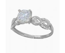 Серебряное кольцо с фианитом (2244,1)