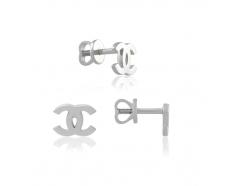 Золотые серьги-пуссеты (0559/1G)