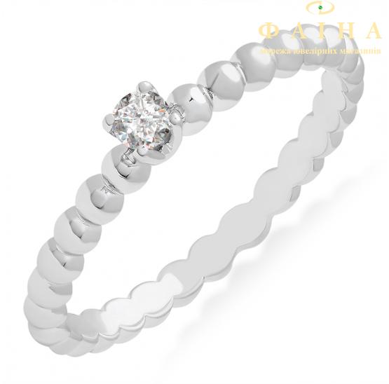 Золотое кольцо с бриллиантом (101-10039б) - 1