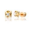 Золотые серьги-пуссеты с фианитом (2222002) - 1