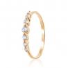 Золотое кольцо с фианитом (4181Sw) - 1