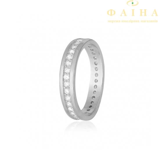 Серебряное кольцо с фианитом (КК2Ф/219) - 1