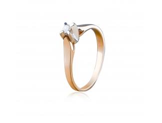 Золотое кольцо с бриллиантом (112-1062нм)