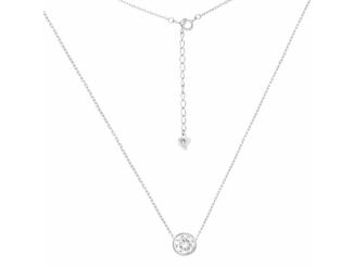 Серебряная цепь-колье  с фианитом (Кл2Ф/415-85)