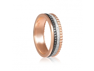 Золотое обручальное кольцо с фианитом (1.1.1580)