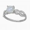Серебряное кольцо с фианитом (2244,1) - 1