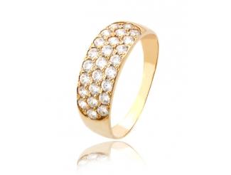 Золотое кольцо с фианитом (120шик)
