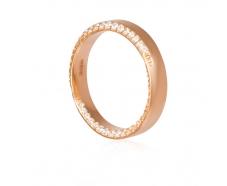 Золотое обручальное кольцо с фианитом (1005)