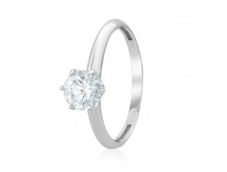 Золотое кольцо с фианитом (4136/1Sw)