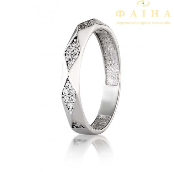 Серебряное кольцо с фианитом (2754,1) - 1