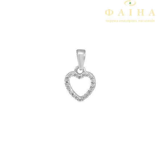 Золотой кулон с фианитом (3101025102) - 1