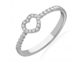 Золотое кольцо с бриллиантом и сапфиром (101-10028)