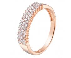 Золотое кольцо с фианитом (1190877101)