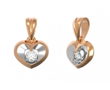 Золотой кулон с бриллиантом (33430)