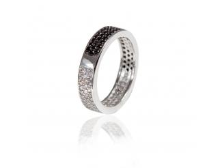 Серебряное кольцо с фианитом (КК2ФО/2052)
