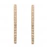 Золотые серьги с фианитом (2049046) - 3