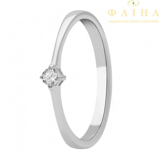 Золотое кольцо с бриллиантом и сапфиром (101-10025) - 1