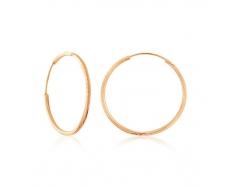 Золотые серьги-кольца (004/1)