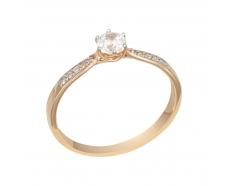 Золотое кольцо с фианитом (1100901101)