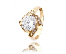 Золотое кольцо с фианитом (474)