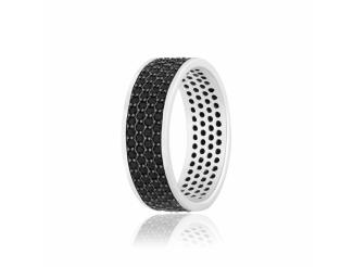 Серебряное кольцо с фианитом (КК2ФО1-373)