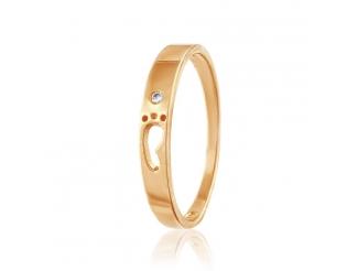 Золотое кольцо с фианитом (0521)