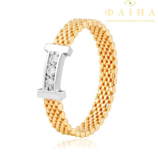 Золотое кольцо с фианитом (2056) - 1