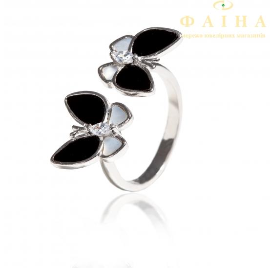 Серебряное кольцо с фианитом (КК2ОПФ/2064) - 1
