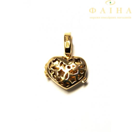 Золотой кулон с фианитом (31031501) - 1