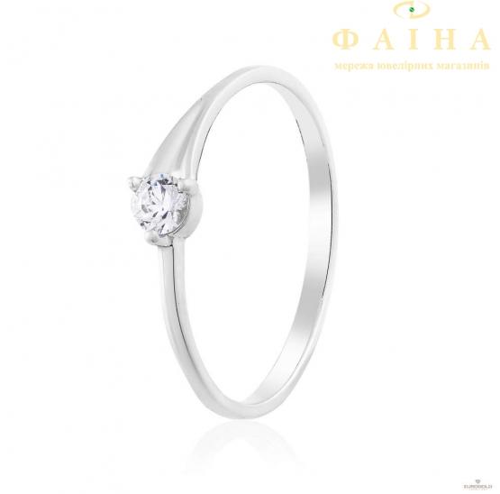 Золотое кольцо с фианитом (ко4190-1Sw) - 1