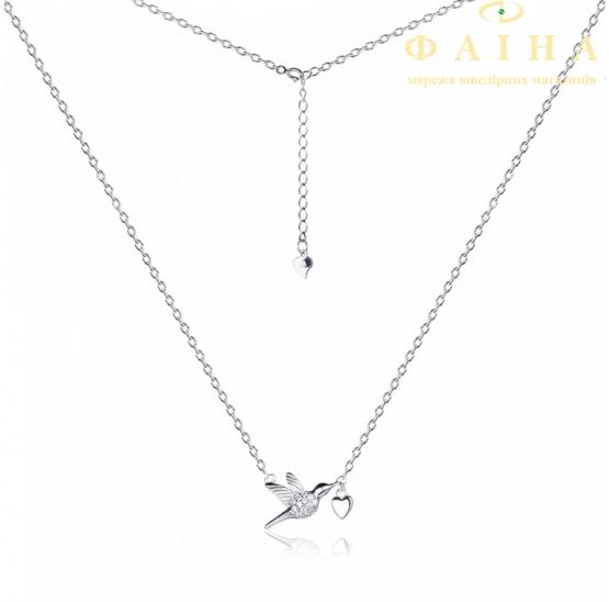 Серебряная цепь-колье (Кл2/3005) - 1