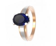 Золотое кольцо с сапфиром (11842с)