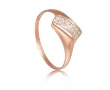 Золотое кольцо с фианитом (к132)