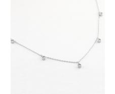 Серебряная цепь-колье  с фианитом (КлК2Ф/112)