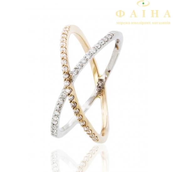 Золотое кольцо с фианитом (700077) - 1