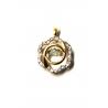 Золотой кулон с фианитом (700268-К Рр) - 1