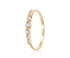 Золотое кольцо с фианитом (4181Sw)