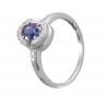 Золотое кольцо с бриллиантом и сапфиром (36130390) - 1