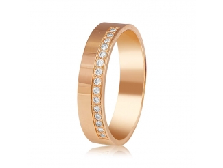 Золотое обручальное кольцо с бриллиантом (КОА7137)