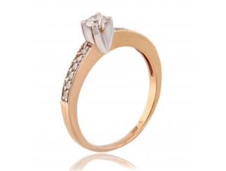 Золотое кольцо с бриллиантом (810005ф)