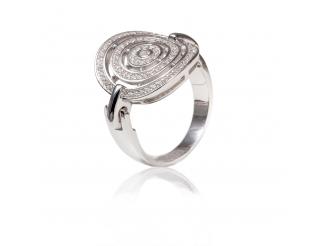 Серебряное кольцо с фианитом (КК2Ф/2026)