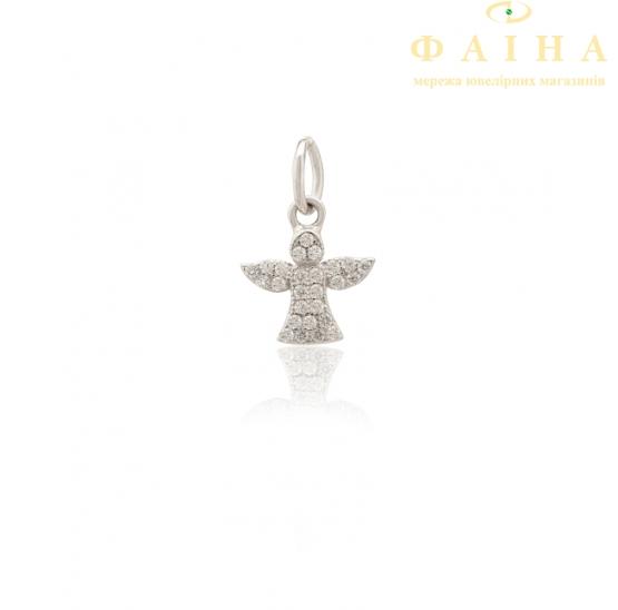 Серебряный кулон с фианитом (П2Ф/1005) - 1